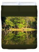 Pond Reflection Guatemala Duvet Cover