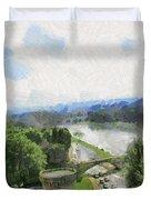 Pont De St Benezet - Avignon Duvet Cover