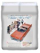 Pontiac Advertisement 1957 Duvet Cover