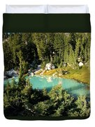 Pool In The Forest Duvet Cover