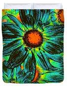 Pop Art Daisies 17 Duvet Cover