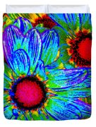 Pop Art Daisies 2 Duvet Cover