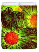 Pop Art Daisies 5 Duvet Cover