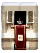 Pope Benedict Xvi B Duvet Cover by Andrew Fare