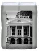 Poplar Forest South Portico Bw Duvet Cover