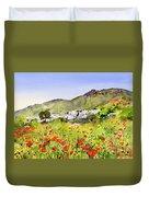 Poppies At Las Hortichuelas Duvet Cover