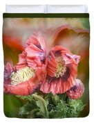 Poppies Big And Bold Duvet Cover
