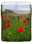 Poppies By The Roadside In Northumberland Duvet Cover