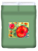 Poppies Face To The Sun Duvet Cover