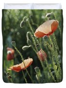 Poppies In A Field In Provence Duvet Cover