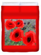 Poppies Of Stone Duvet Cover by Empty Wall