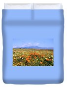 Poppies Over The Mountain Duvet Cover