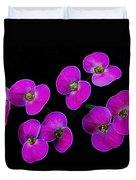 Poppin Pink Petals Duvet Cover