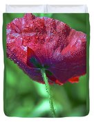 Poppy And Dewdrops Duvet Cover