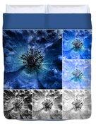 Poppy Blue - Macro Flowers Fine Art Photography Duvet Cover