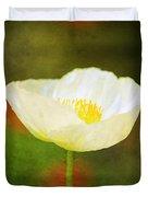 Poppy Of White Duvet Cover