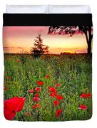 Poppy Patch And Previsualization Duvet Cover