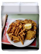 Popular Argentine Breaded-meat Dish Duvet Cover