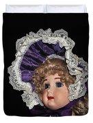 Porcelain Doll - Head And Bonnet Duvet Cover