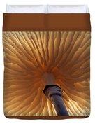 Porcelain Mushroom Oudemansiella Mucida Duvet Cover