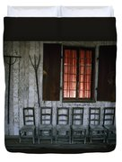Porch Of The Bolduc House Museum Duvet Cover