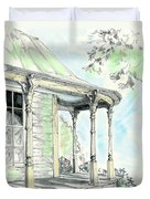 Porch Time Duvet Cover