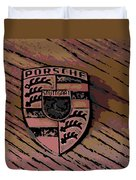 Porsche On Wood Duvet Cover
