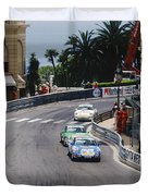 Porsches At Monte Carlo Casino Square Duvet Cover by John Bowers