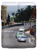 Porsches At Monte Carlo Casino Square Duvet Cover