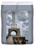 Port Washington Lighthouse Duvet Cover