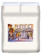Porta Borsari Verona  First Century Ad Roman Gate Duvet Cover