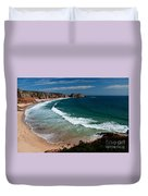 Porthcurnow Beach Duvet Cover