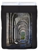 Portico From The Valley Of The Fallen Duvet Cover by Mary Machare