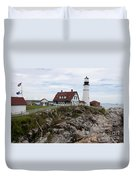 Portland Head Light Cape Elizabeth Fort Williams Maine Duvet Cover