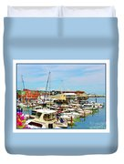 Portland Maine Harbor Duvet Cover
