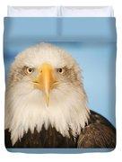 Portrait Of A Bald Eagle Duvet Cover
