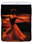 Portrait Of A Ballet Dancer Bathed Duvet Cover