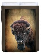 Portrait Of A Buffalo Duvet Cover by Tamyra Ayles