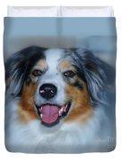 Portrait Of A Dog Lady Duvet Cover