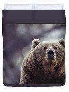 Portrait Of A Kodiak Brown Bear Duvet Cover
