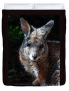Portrait Of A Wallaby Duvet Cover