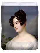 Portrait Of A Young Woman Duvet Cover