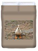 Portrait Of An Alabama Duck Duvet Cover