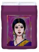 Portrait Of An Indian Woman Duvet Cover