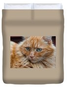 Portrait Of An Orange Kitty Duvet Cover