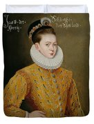 Portrait Of James I Of England And James Vi Of Scotland  Duvet Cover