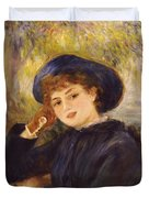 Portrait Of Mademoiselle Demarsy Duvet Cover by Pierre Auguste Renoir