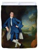 Portrait Of Man Duvet Cover