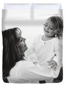 Portrait Of Mother And Daughter Duvet Cover by Michelle Quance