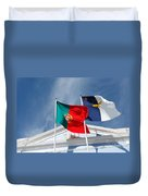 Portugal And Azores Flags Duvet Cover